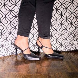 VTG 90's ALDO Genuine Leather Square Toe Sandal